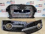 Audi Q3 Решетка радиатора + решетки в бампер в стиле RSQ3