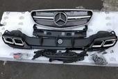 Mercedes E W212 2013-2017 задний диффузор с насадками+решетка радиатора