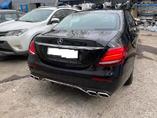 Mercedes W213 установка заднего диффузора AMG в стоковый бампер